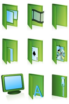 Different Folder Icons Royalty Free Stock Image