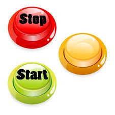 Free Start Stop Push Button Stock Image - 16874311
