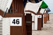 Free Beach Chairs V1 Stock Images - 16874704