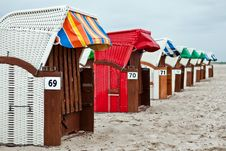 Free Beach Chairs V2 Royalty Free Stock Images - 16874719