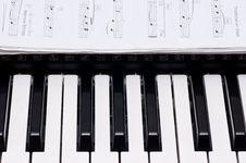Free Piano Keys Royalty Free Stock Photo - 16874925