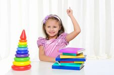 Free Little Girl Is Studying Literature Stock Photo - 16875720