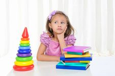 Free Little Girl Is Studying Literature Stock Photos - 16875913