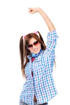 Free Cheerful Girl Stock Images - 16876404