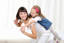 Free Young Mother And Her Young Daughter Stock Photography - 16876472