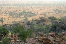 Overlooking A Village In Dogon Country Royalty Free Stock Photo