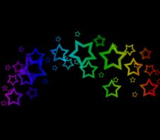 Abstract Star Wake Background Stock Image