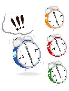 Free Set Of Varicolored Clocks Royalty Free Stock Photo - 16877755