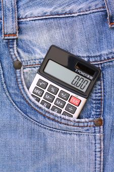 The Calculator In Your Pocket Jeans Royalty Free Stock Images