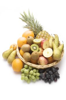 Free Large Basket Of Fruit Royalty Free Stock Image - 16878056