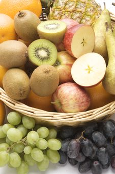 Free Large Basket Of Fruit Stock Photos - 16878093
