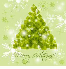 Free Abstract Green Christmas Tree Royalty Free Stock Photos - 16878128