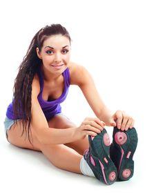 Girl Stretching Stock Photos