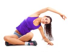 Free Girl Stretching Royalty Free Stock Photo - 16878275