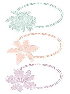 Free Set Of Floral Frames. Stock Images - 16878664
