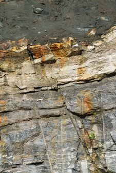 Structure Of Rock. Stock Images