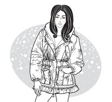 Free Vector Image Of Girl In Winter Jacket Stock Photos - 16878733
