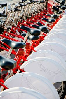 Free A Lot Of Bikes Stock Images - 16879034