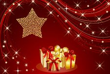Free Christmas Present Background Royalty Free Stock Image - 16879196