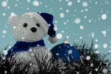 Free Christmas Teddy Bear Royalty Free Stock Photos - 16879258