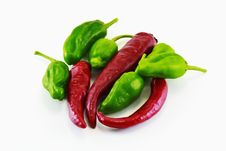 Free Red And Green Peppers Stock Images - 16879854