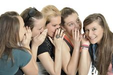 Free Girls Are Happy In The School Royalty Free Stock Photos - 16879868