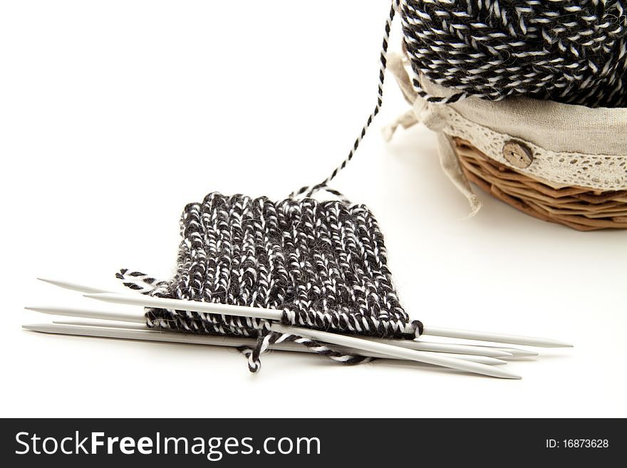 Want with knitting needles