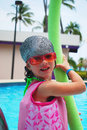 Free Little Girl And Pool Royalty Free Stock Photos - 16882318