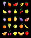 Free Energy Fruits. Vector Collection For Your Design Royalty Free Stock Photography - 16883557