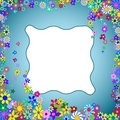 Free Flower Frame On A Blue Background_2 Royalty Free Stock Photo - 16885515