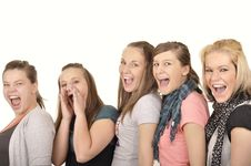 Free Girls Are Happy In The School Stock Photography - 16880012