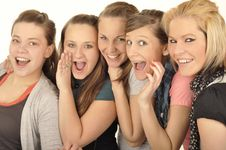 Free Girls Are Happy In The School Royalty Free Stock Photos - 16880038