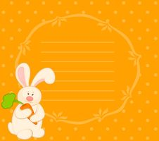 Bunny With Carrot Stock Photo