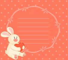 Free Bunny With Heart Royalty Free Stock Photos - 16880208