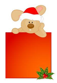 Bunny In The Cap Of Santa Claus Stock Photos