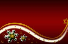 Free Snowflake Xmas Illustration Gold Red Background Royalty Free Stock Images - 16880699