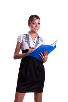 Free Business Woman With Files. Stock Photography - 16881662
