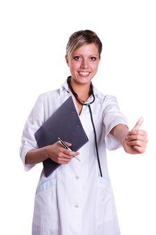 Free Friendly Nurse Holding Chart Royalty Free Stock Photo - 16881675