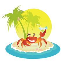 Free Red Crab On A Tropical Island Royalty Free Stock Image - 16882226