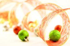 Free Holiday Ribbon Christmas Balls Stock Photos - 16883123