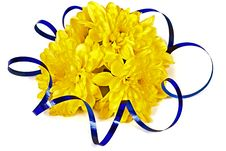 Yellow Bouquet With A Tape Royalty Free Stock Photo