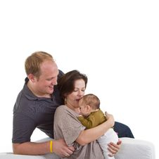 Young Family With Baby Girl Royalty Free Stock Photography