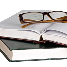 Free Eyeglasses On Open Book Stock Image - 16883671