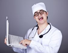 Free Young Doctor With Notebook Stock Images - 16883714