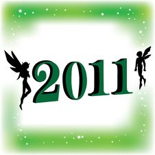 Free Couple Fairy With 2011 Stock Photo - 16884650
