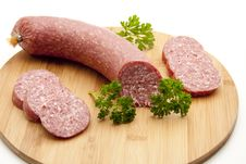 Free Salami With Parsley Royalty Free Stock Photography - 16884807