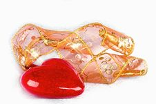 Free Ornament In The Form  Heart And A Tape Royalty Free Stock Images - 16885039