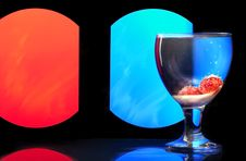 Free Glass Wine Goblet On A Colored Background. Stock Images - 16885304