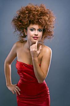Free Beauty Redheaded Girl In Fashion Dress Royalty Free Stock Photo - 16885745
