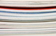 Pile Of Fresh Magazines Stock Photography
